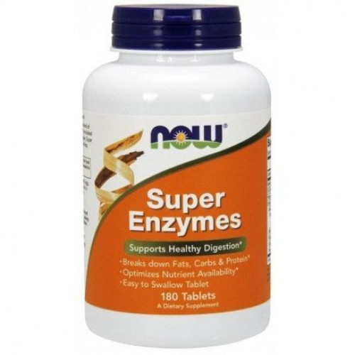 NOW - Super Enzymes - 180 tabletek