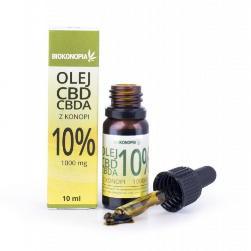 Olej z konopi 10% CBD + CBDA 1000 mg - 10 ml