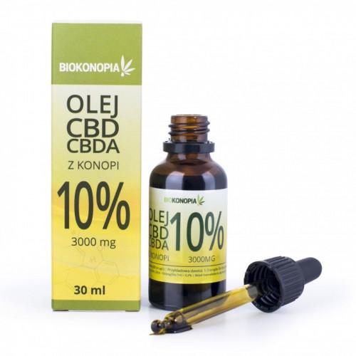 Olej z konopi 10% CBD + CBDA 3000 mg - 30 ml