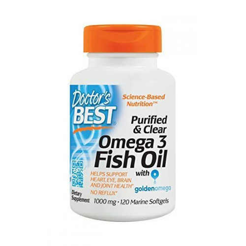 Doctor's Best - Purified & Clear Omega 3 Fish Oil - 120 kapsułek