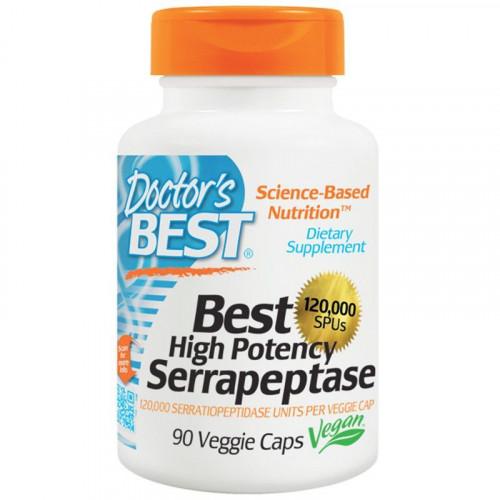 Doctor's Best - Serrapeptase 120 000 SPU High Potency - 90 kapsułek