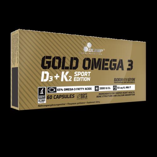 Olimp - Gold Omega 3 D3+K2 Sport Edition - 60 kapsułek