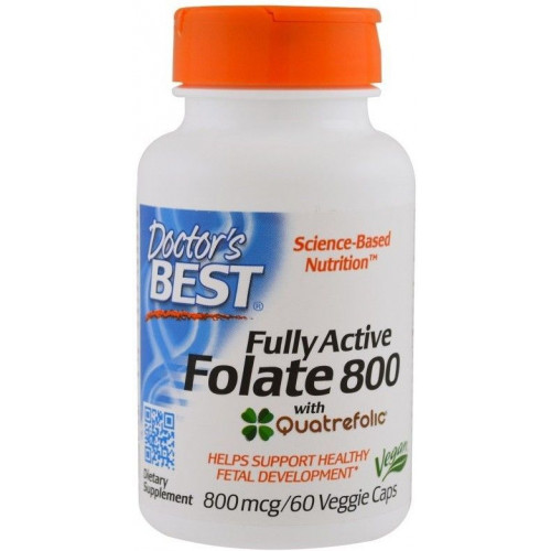 Doctor's Best - Fully Active Foliate 800 - 60 kapsułek