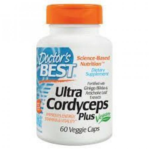 Doctor's Best - Ultra Cordyceps PLUS - 60 kapsułek