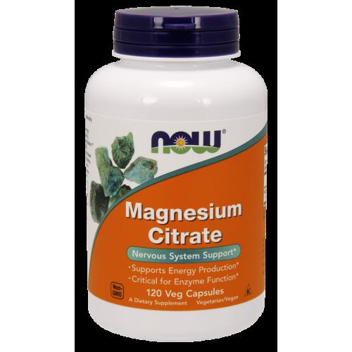 NOW - Magnesium Citrate - 120 kapsułek