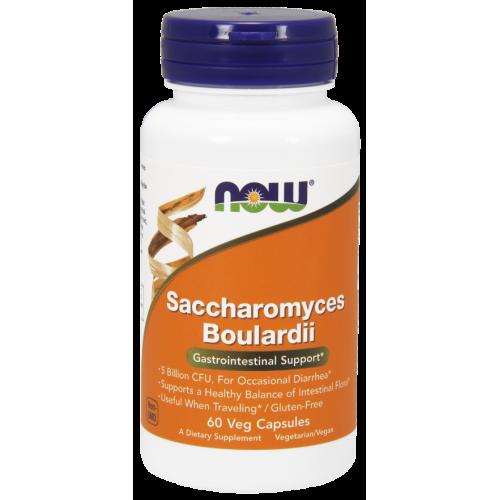 NOW - Saccharomyces boulardii - 60 kapsułek