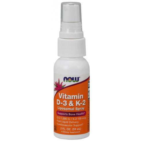 NOW - Vitamin D-3 & K-2 Liposomal Spray - 59 ml