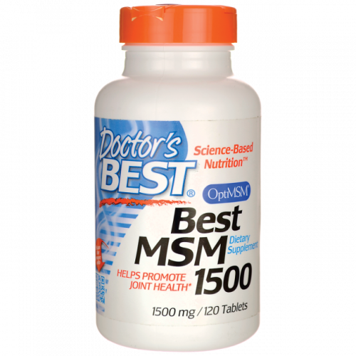 Doctor's Best - Best MSM 1500mg - 120 tabletek