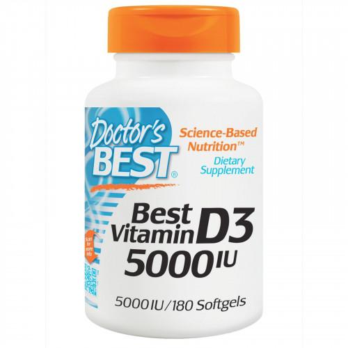 Doctor's Best - Best Vitamin D3 5000IU - 180 kapsułek