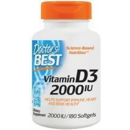 Doctor's Best - Best Vitamin D3 2000IU - 180 kapsułek