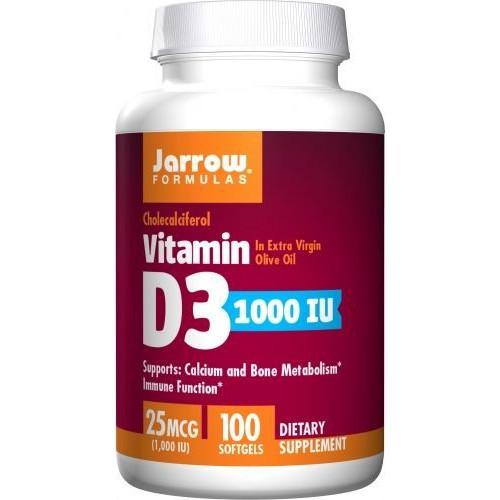 Jarrow - Vitamin D3 1000 IU - 100 kapsułek