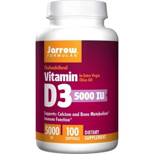 Jarrow - Vitamin D3 5000 IU - 100 kapsułek