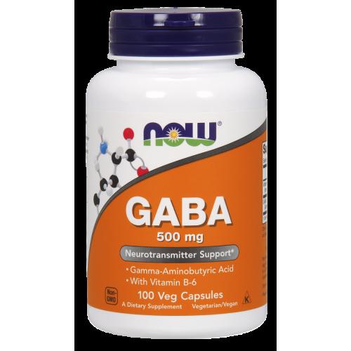 NOW - GABA 500 mg - 100 kapsułek