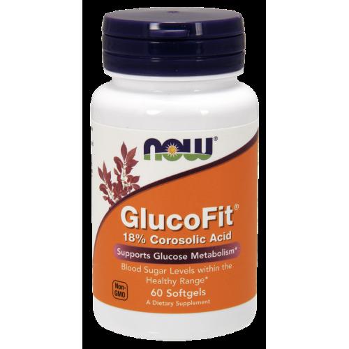 NOW - GlucoFit - 60 kapsułek