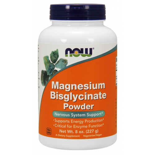 NOW - Magnesium Bisglyacinate Powder - 227 g