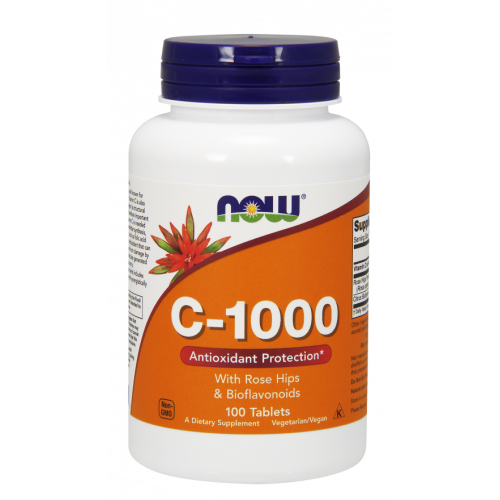 NOW - Vitamin C-1000 with Rose Hips & Bioflavonoids - 100 tabletek