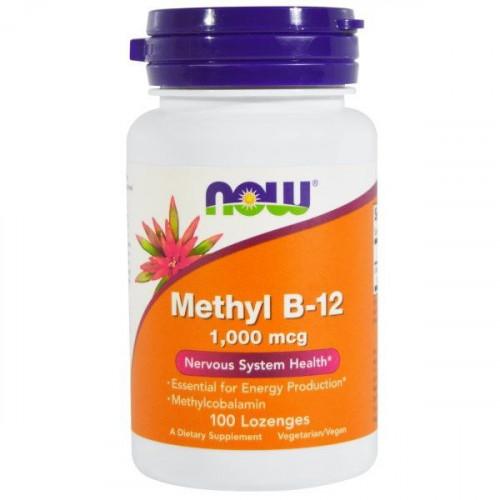 NOW - Methyl B-12 1,000 mcg - 100 tabletek