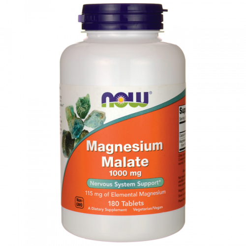NOW - Magnesium Malate 1000 mg - 180 tabletek