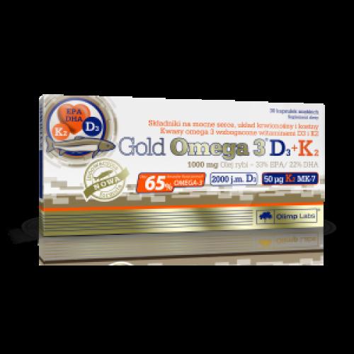 Olimp - Gold Omega 3 D3 + K2 - 30 kapsułek