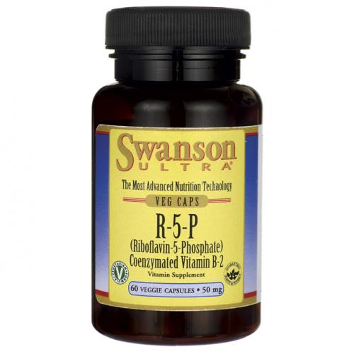 Swanson - R-5-P (Riboflavin-5-Phosphate) Coenzymated Vitamin B-2 - 60 kapsułek