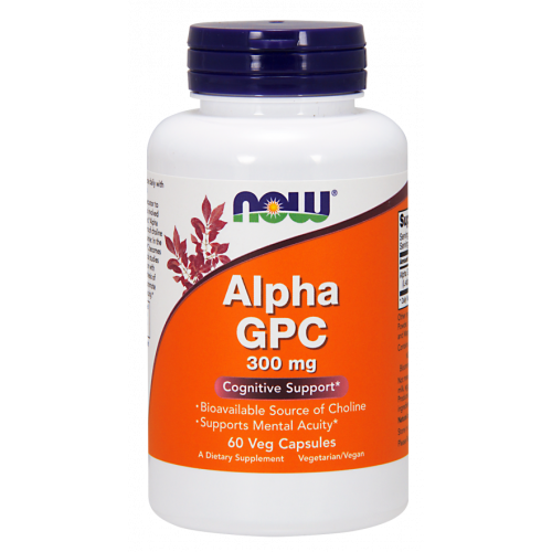 NOW - Alpha GPC 300 mg - 60 kapsułek