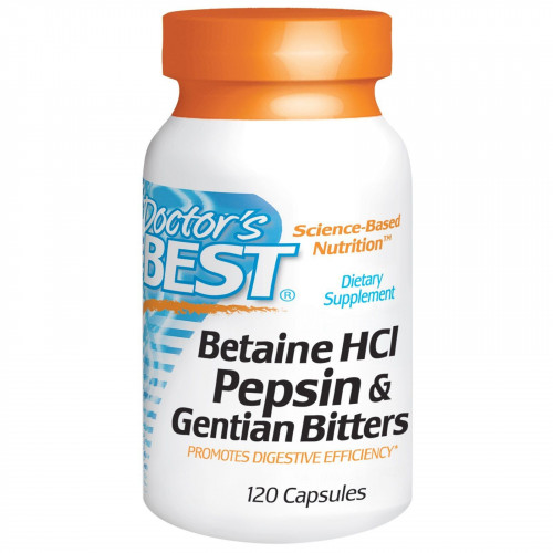 Doctor's Best - Betaine HCl 650 mg - 120 kapsułek