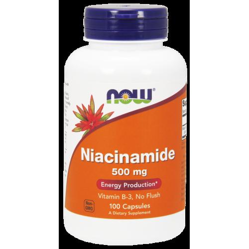 NOW - Niacinamide 500 mg -100 kapsułek