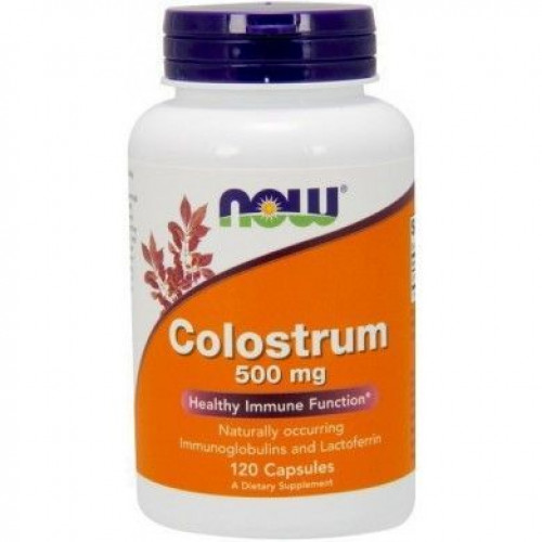NOW - Colostrum 500 mg - 120 kapsułek