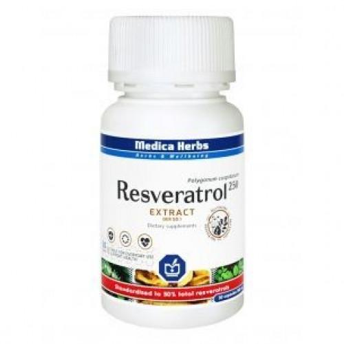 Medica Herbs - Resweratrol 250 - 30 kapsułek